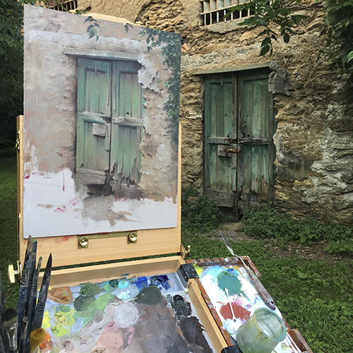 Painting the green doors